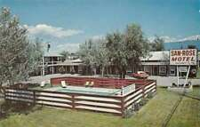 Kalispell Montana San-Rose Motel Swimming Pool Vintage Postcard J71025