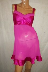 Cacique Intimates Babydoll Short Sexy Pink Nightgown Bra Top Size 18/20