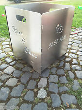 Feuerkorb Terassenfeuer Holzofen Feuerschale Lagerfeuer Grill  Edelstahl Garten