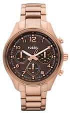 Fossil CH2793 Flight Brown Dial Rose Gold Stainless Chronograph Women's Watch