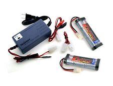 2 x Tenergy 7.2V 3000mAh NiMH RC Car Battery w/ Tamiya + Smart 7.2v-12v Charger