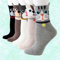 Sock 3D Cute Animal Cotton Cat Women Casual Cartoon Printed Dog Socks Ankle-high