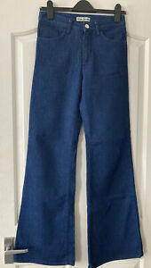 Acne Studios 70's Flare Jeans, Blue, Size 27x32