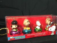 Peanuts Characters Holiday Jingle Buddies Bells w/ Pendant Cord-Set of Four New