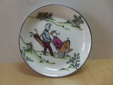 Caddie pushing Golfer on Trolley ceramic Pin Tray Gorringes England golf 1960s ?