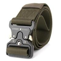 Mens Military Tactical Gun Belt Buckle Combat Waistband Adjustable
