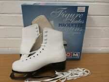 Ladies CCM White Ice FIGURE SKATES Pirouette Size UK 6 Excellent Condition BOXED