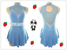 Blue Ice Figure Skating Dresses Custom Girl Competition Skating Dress Girls