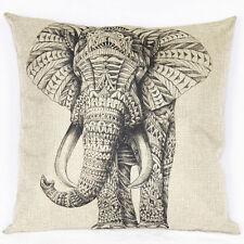 Weinlese-Elefant Kissenbezug Kissenhülle Dekokissenbezug Pillowcase Zierkissen