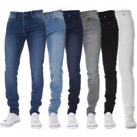 Kruze Mens Skinny Jeans Super Stretch Slim Fit Denim Trousers Pants All Waists