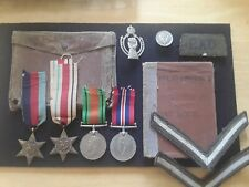 WW2 MEDAL GROUP PAYBOOK BADGES RAC ROYAL ARMOURED CORPS TANKS NORTH AFRICA WOUND