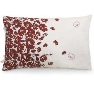 2 DKNY WILDFLOWER FIELD Standard/Queen Pillow Shams Ivory w/Red *Brand New*