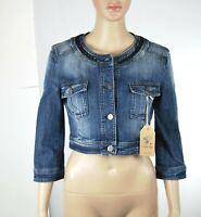 Giacca Jeans Giubbino Donna Giubbotto Blu TWENTY EASY-KAOS Italy H230 Tg S L