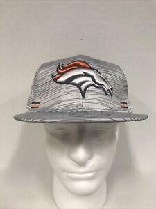 Denver Broncos New Era 9FIFTY Blurred Trick Snapback Hat Cap Men's New