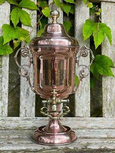 Antique Copper Coffee Percolator TW Griffiths Loysel's Patent Design Vintage