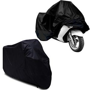Black Waterproof Motorcycle Scooter Rain Vented Outdoor Motorbike Cover 2XL