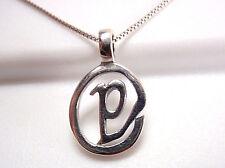 "The Letter ""P"" Pendant 925 Sterling Silver Corona Sun Jewelry Letters p"