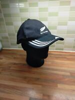 All Blacks New Zealand Rugby Adidas Baseball Cap Hat Black Official Large Cotton