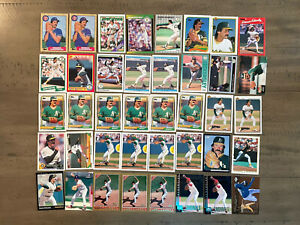 Dennis Eckersley 40 Card Lot from 1987 to 1998 Topps,Fleer,Upper Deck and more