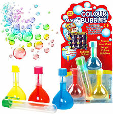 MAGIC RAINBOW BUBBLES BOYS GIRLS GIFT MIX GARDEN GAME TOY FUN PARTY BAG FILLER