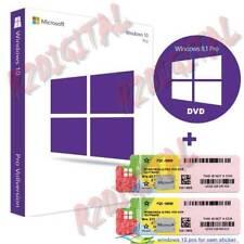 WINDOWS 10 PROFESSIONAL DVD + ADESIVO WIN PRO PACK 32 64 BIT LICENZA COMPUTER PC