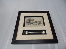 Vintage! 1784 Lafayette House Foxboro,Mass.1940s Postcard & Olive Fork
