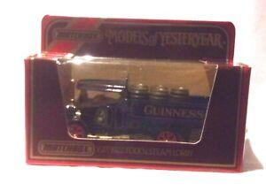 KKar Matchbox - 1986 Yesteryears - Y-27 - 1922 Foden Steam - Blue - Guinness