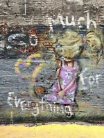 """36"""" x 48"""" canvas street art limited edition print by andy baker and soulsomeness"""