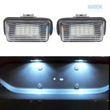 White LED Number License Plate Light For Peugeot 12V/24V 18SMD 308/5008 Partner