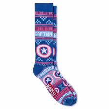 Captain America Women's Marvel Comics Sweater Socks - Blue/Pink