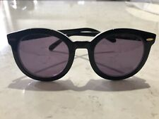 Karen Walker Super Duper Strength Black & White Limited Édition Sunglasses