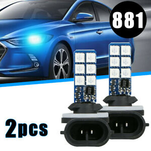 2pc Fog Lamp Colourful RGB LED Lights 881 5050 Bulb Car Headlight Accessories