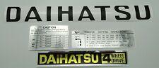 Daihatsu Taft F20/F50 decals