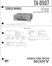 Sony Original Service Manual für TA- D 507