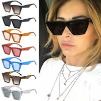 Vintage Women Sunglasses Oversized Frame Cat Eye Designer Shades Eyewear UV400