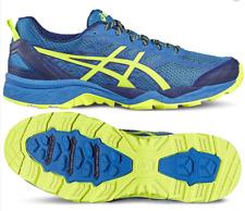 ASICS Gel FujiTrabuco 5 Mens UK 10 Blue Yellow Trail Running Shoes Trainers
