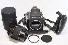 AS IS Mamiya m645 120 Medium Format Film Camera and Grip w/ Sekor 150mm F/4 Lens