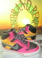 VTG 2009 Nike Delta Force Wo's 8.5 High Top Shoes Rainbow Ombre 101821991