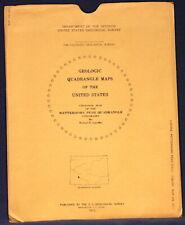 Usgs Wetterhorn Peak Colorado Geologic Map, Full Color Map, Original Sleeve 1972