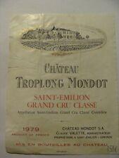 Etiquette - Château TROPLONG MONDOT - 1970 - St Emilion - Grand Cru - (E4)