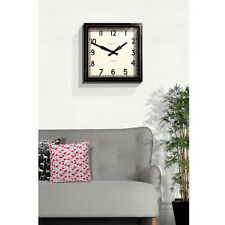 Wall Clock Vintage London Retro Modern Square Iconic Design Restoration Hardware