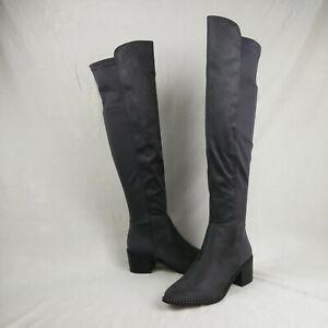Steve Madden Steven West Gray Tall Partial Zip Boots Women's Size 6.5 M US