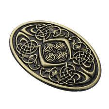 Germanic Celtic Pattern Oval Belt Buckle Western Cowboy Costume Accessory