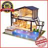 Muebles de casa de muñecas DIY educativo 3D Villa de madera Apartamento Juguete