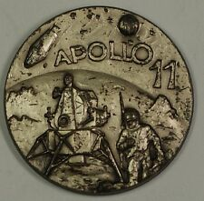 Apollo XI 11 Commemorative Space Medal with High Relief Obverse in 2x2 Flip