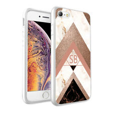 Personalised Marble Printed Initials Phone Hard Case for Various Phone Models