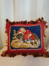 More details for antique victorian needlework  cushion pillow superb condition