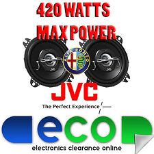 ALFA ROMEO 155 JVC 10cm 4 inch 420 WATT 2 VIE ANTERIORE DASH Altoparlanti Auto