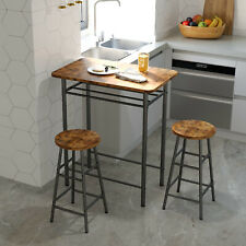 IRONCK 3-Piece Pub Bar Table Set with 2 Bar Stool Industrial Style Easy Assembly