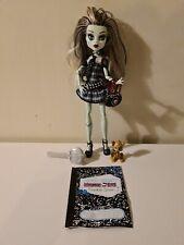 Monster High Wave 1 Muñeca Frankie Stein Accesorios Mascota Watzit, Diario, Bolsa